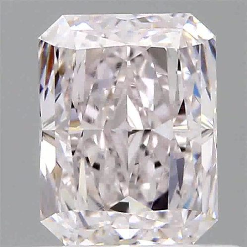 0.70 carat VS2 Faint Pink Diamond radiant shape GIA certified