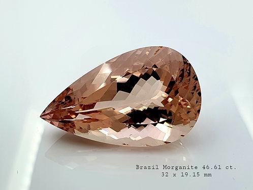 $80/Ct, Fine Morganite Pear natural gemstone from Brazil