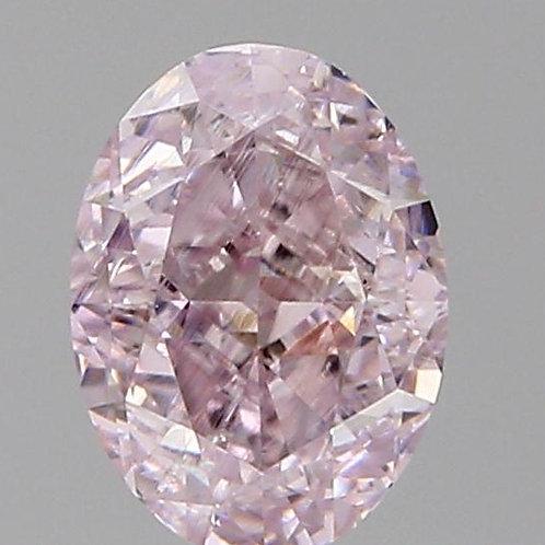 0.35 carat VVS1 Fancy Purplish Pink Diamond oval GIA certified