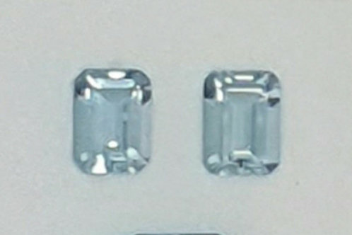 3.15 ct Natural Aquamarine pair from Brazil