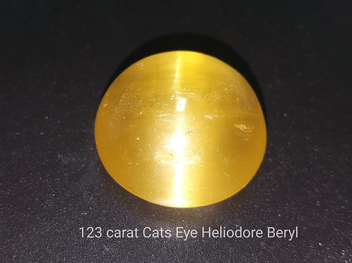 123 ct Cats Eye Golden Beryl rare from Brazil