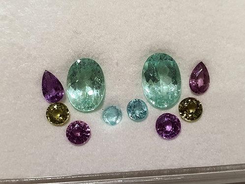 2.62 carats Paraiba Tourmaline matching pair oval set