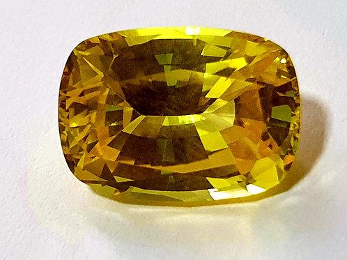 GRS certified 9.28 Ct Yellow Sapphire Heat from Sri Lanka