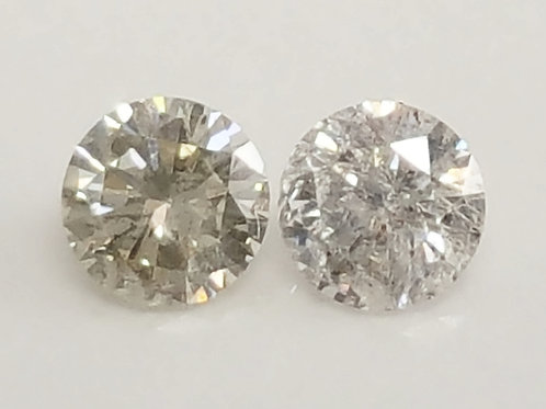 0.27 ct Natural Diamond pair H color SI to I clarity loose diamonds