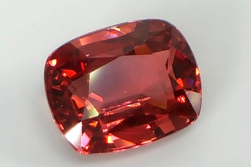Natural 1.51 carats Red Spinel Cushion