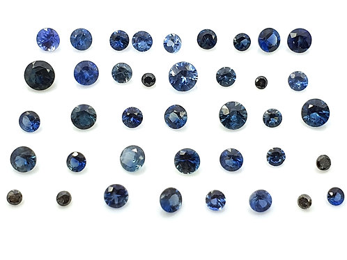 US$ 12/ct, 26.53 carats, Natural Blue Sapphire 1 - 3 mm