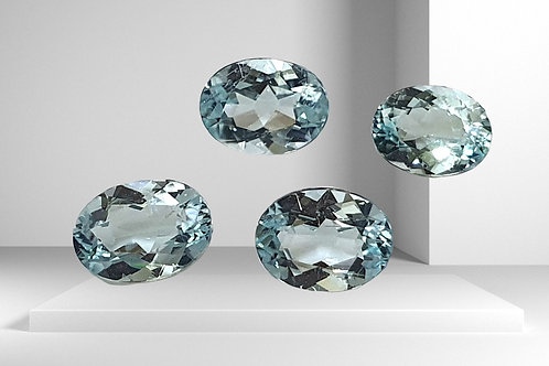 US 700 /CT, 2.45 carats Paraiba Tourmaline 6.4 x 4.8 mm, 4 pcs oval