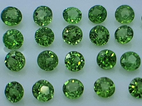317 carats, Natural Tsavorite Garnet 2 mm round