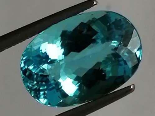 5.20 cts Neon Blue Paraiba Tourmaline oval from Mozambique