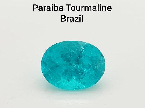 GRS Certified 1.8 carat Brazil Paraiba Tourmaline  oval shape