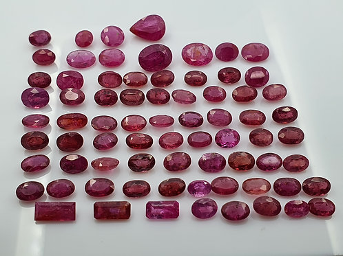 54.75 Ct Natural Ruby heated lot gemstone
