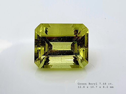 Natural Green Beryl 7.68 ct gemstone