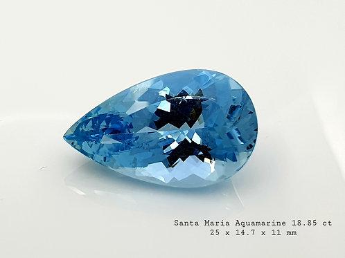 Natural Santa Maria Aquamarine oval gemstone