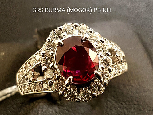 2.20 carat BURMA RUBY  PIGEON'S BLOOD RING