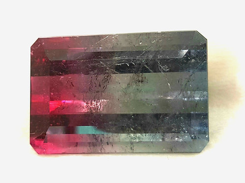 US $ 50 P/C, Old mine 48.87 ct Bi Color Tourmaline loose gemstone from Brazil