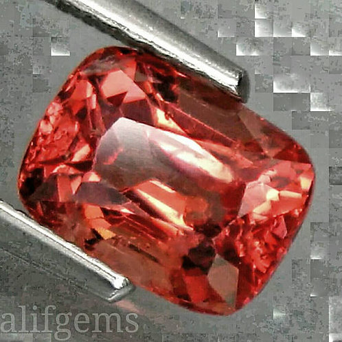 1.65 cts Breathtaking orange Spinel cushion from Tanzania