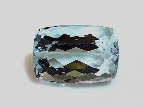 US $160/Ct, Brazil 8.15 ct, Fine Aquamarine cushion natural gemstone