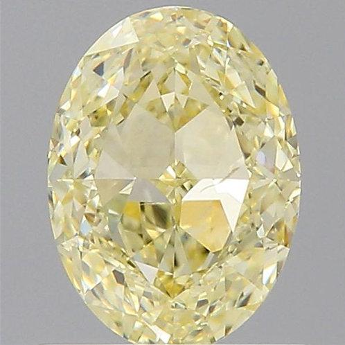 0.90 carat Fancy Light Yellow Diamond oval GIA certified