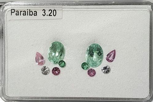 3.20 carats Paraiba Tourmaline from Mozambiqe