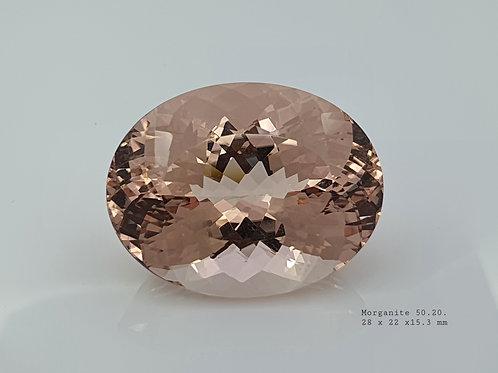 Natural Morganite oval loose gemstone from Brazil