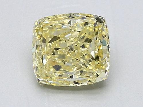 2.26 carat Intense Yellow Diamond Cushion GIA certified