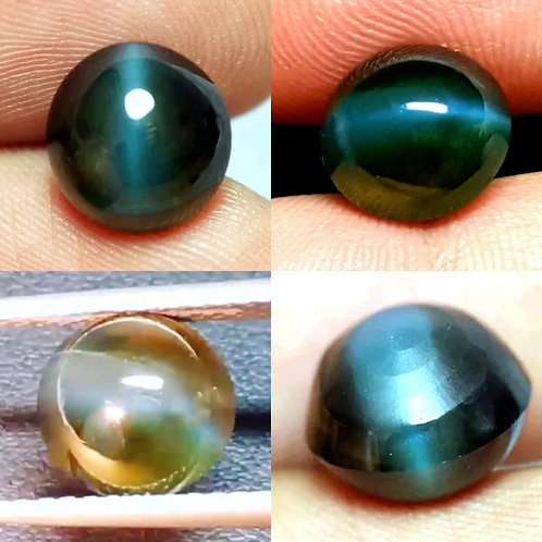 5.63 cts GIA certified Natural Alexandrite cats eye double Cabochan