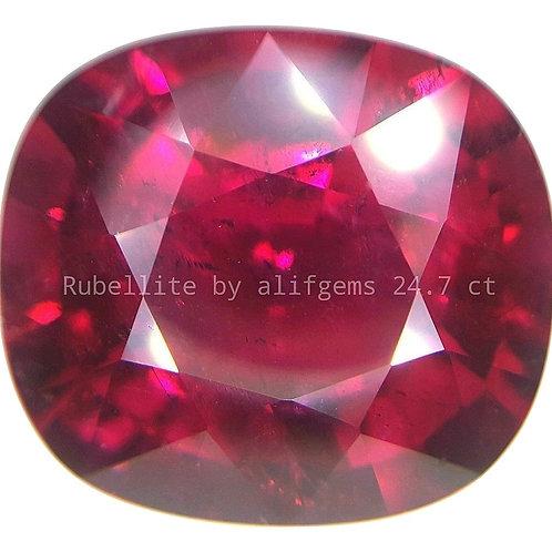 24.7 ct Natural Rubellite Tourmaline  loose gemstone