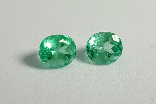 2.30c Natural Colombian emerald pair crystal clean