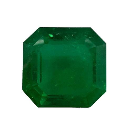 83 carats Gublin Certified Colombian Emerald vivid green museum grade.