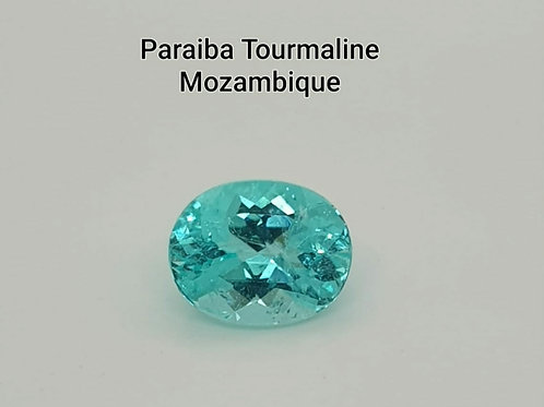 2.25 carats Natural Blue Paraiba Tourmaline from Mozambique