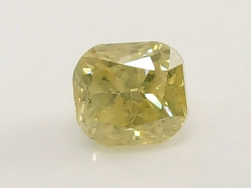 0.30 cts Natural yellow Diamond cushion cut.