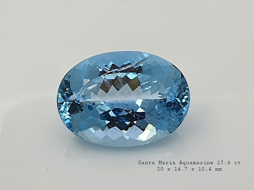 Santa Maria Aquamarine oval natural gemstone