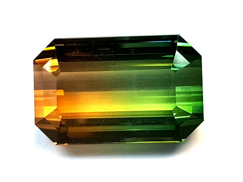 Magnificent 61.39 ct Bi Color Tourmaline Loose Gemstone from Mozambique