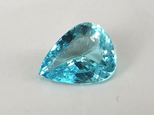 US5500 P/C, 3.09 Ct Natural Paraiba Tourmaline neon blue 11.5 x 9 mm from