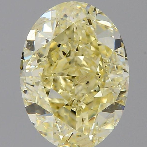 1 carat  Fancy Light Yellow Diamond oval GIA certified