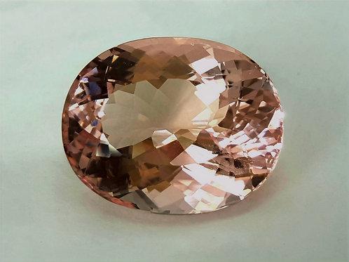 30.26 cs Natural Morganite oval gemstone from Brazil