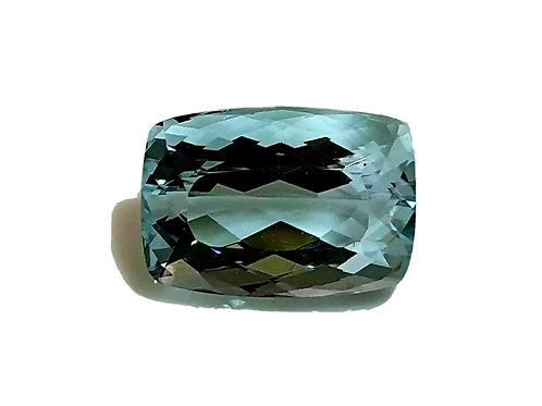 8.15 carat Natural Aquamarine cushion gemstone from Brazil