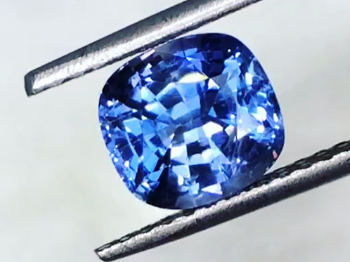 3.74 Cts AIGS Certified Unheated Natural Blue Sapphire