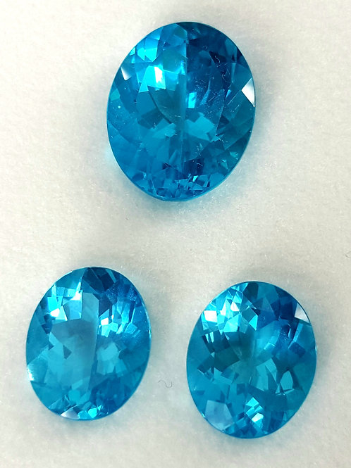 Natural 14 ct up top Paraiba Apatite set from Brazil