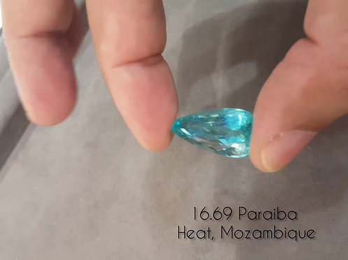 16.69 Cts Magnificent GRS Certified Paraiba Tourmaline from Mozambique