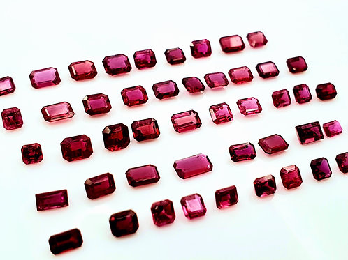 16 CARAT NATURAL RUBY MIXED SHAPE SIZE LOT