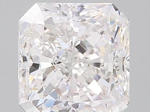 1.51 carat 3EX Faint Pinkish Diamond Radiant shape GIA certified