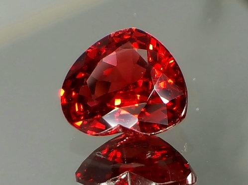 Natural vivid Red Spinel no heat VS heart cut loose gemstone