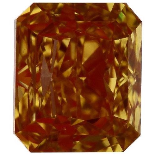 0.30 carat Intense Yellow Orange Diamond Radiant GIA certified
