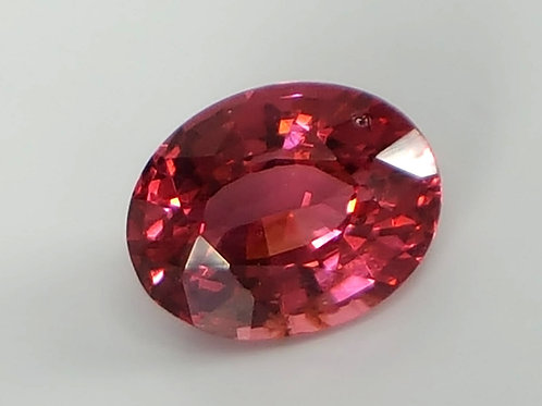 Natural 1.12 ct, Pinkish Red Spinel oval loose gemstone