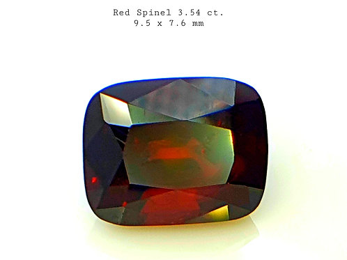 3.54 ct Natural Flame Red Spinel stone from Tanzania