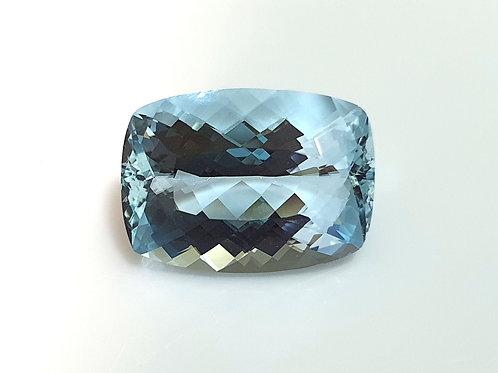 7.30 carat Natural Aquamarine cushion gemstone from Brazil