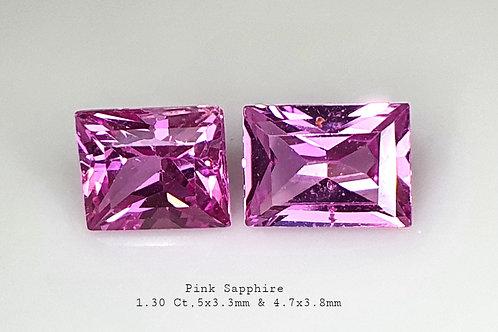 US $165 P/C, 1.30 carat Purple Sapphire matching pair