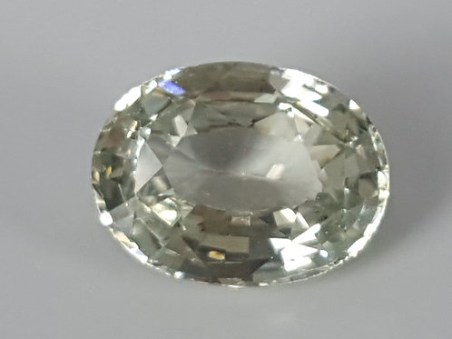 Certified No Heat 2.22 carat green Sapphire from Madagascar
