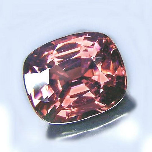 5 carat Peach Pink Spinel cushion from Burma